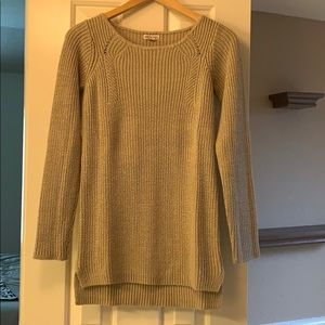 Tan tunic sweater